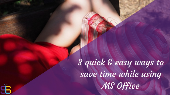 Save time in MS Office