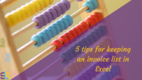 5 tips for keeping an invoice list on Excel